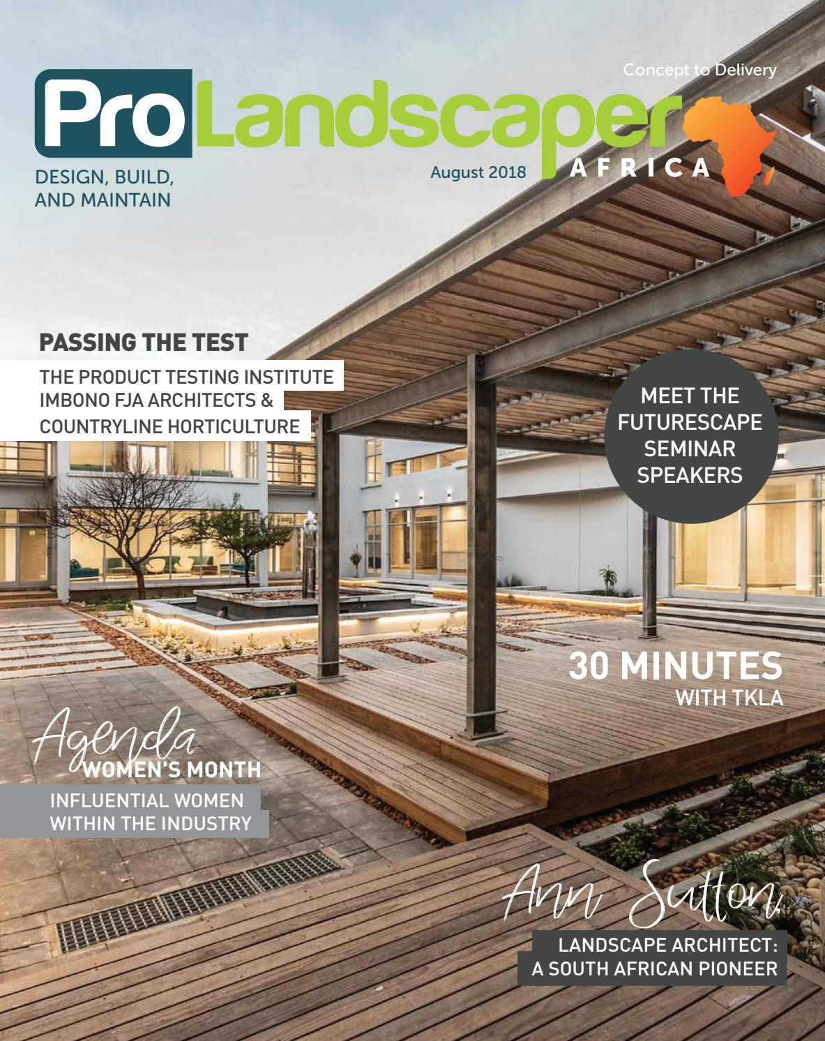 Pro landscaper africa august 2018 by eljays44 issuu