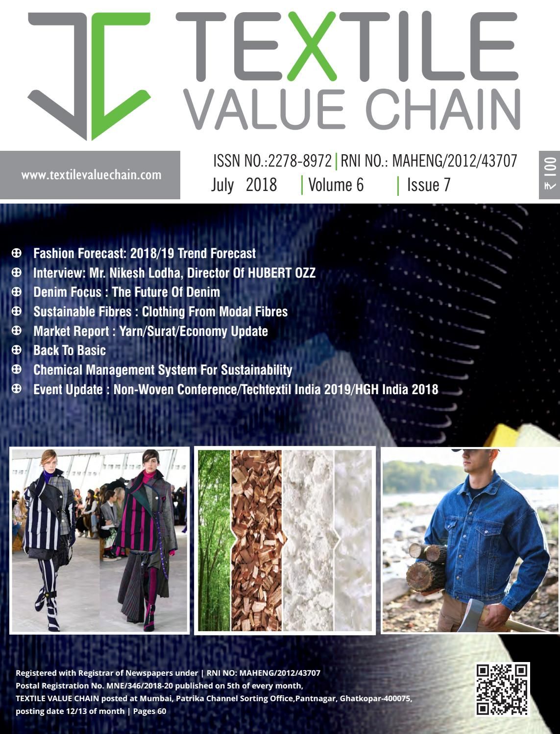 July 2018 Issue By Textile Value Chain Media Issuu