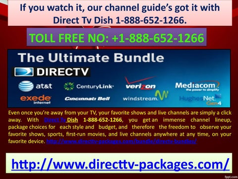If you watch it, our channel guide's got it with Direct Tv Dish 1