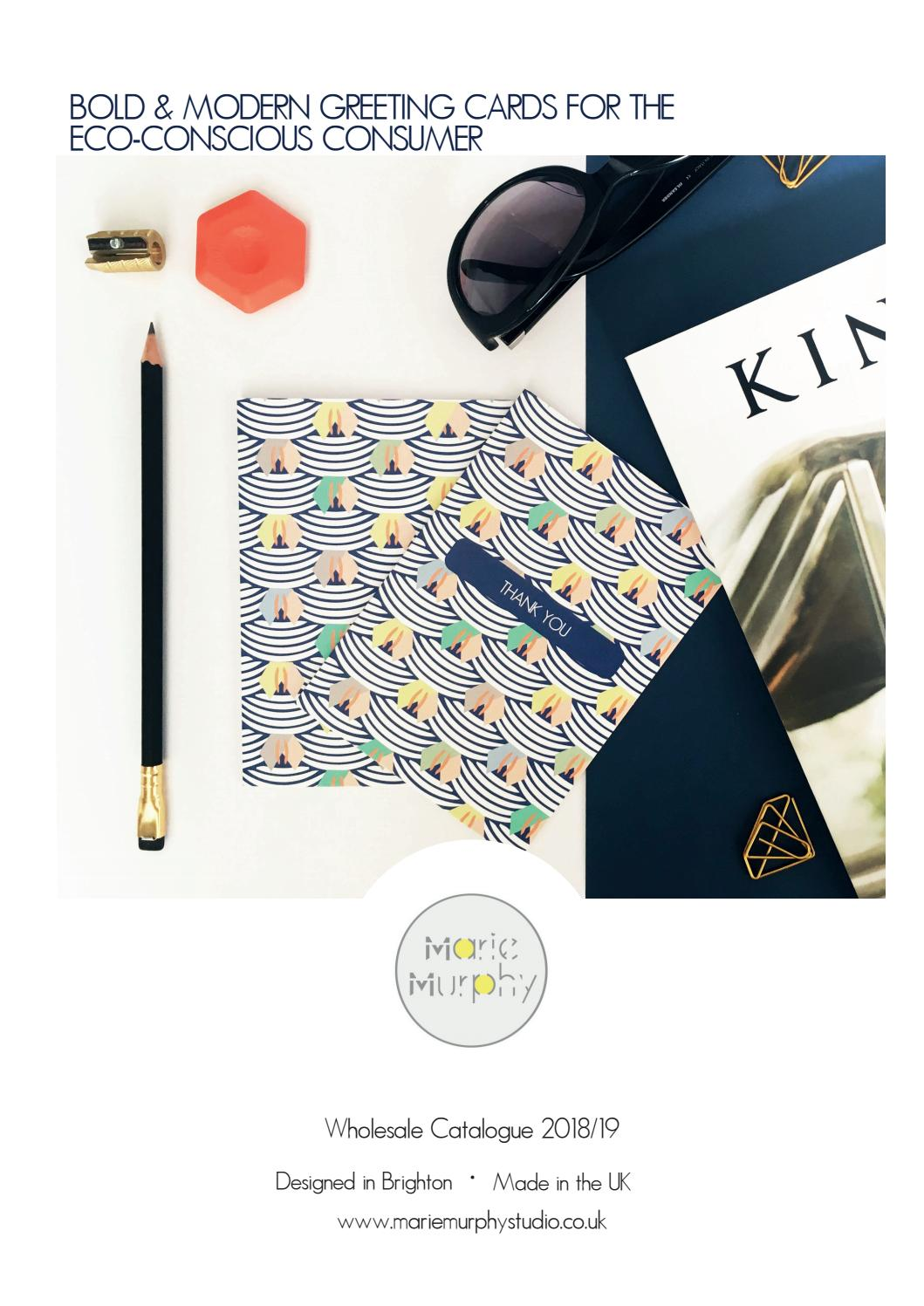 Marie Murphy Studio Bold Modern Greeting Cards For The Eco