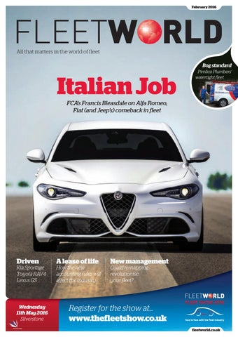 4a5f673e79 Fleet World February 2016 by Fleet World Group - issuu