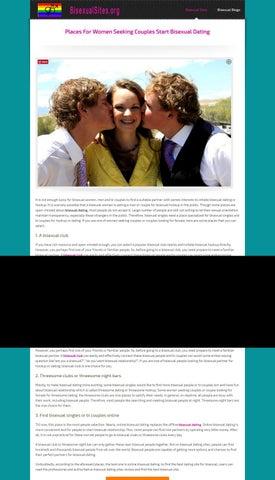 bi sexual online dating Erfolgreiche interracial Dating-Seiten