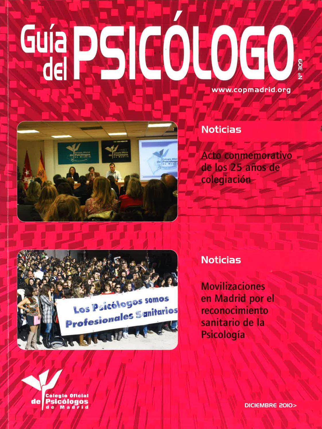 Guía del Psicólogo mes de diciembre de 2010 by Colegio Oficial de  Psicólogos de Madrid - issuu