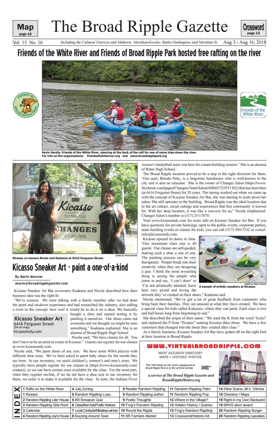 Broad Ripple Gazette Volume 15 Number 16 August 3 August 16 2018