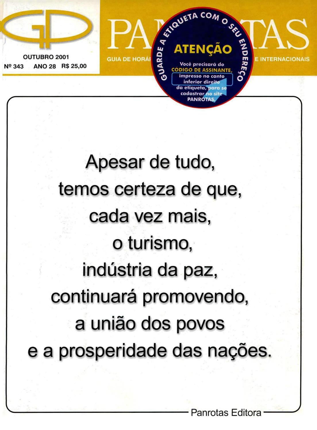 b98463a3d9 Guia Panrotas - Edição 343 - Outubro 2001 by PANROTAS Editora - issuu