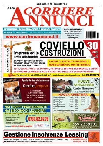 Corriere 30 2018 by Corriere Annunci issuu