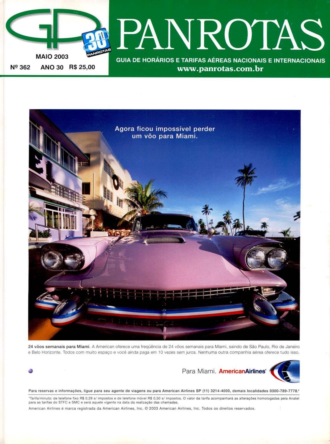 Guia Panrotas - Edição 362 - Maio 2003 by PANROTAS Editora - issuu ee8dd286039