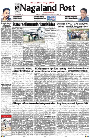 August 4, 2018 by Nagalandpost com - issuu