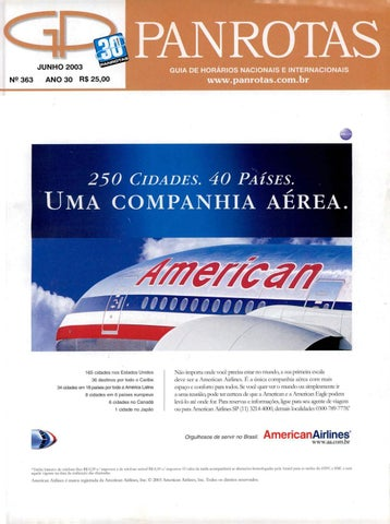 76cd5be08d Guia Panrotas - Edição 363 - Junho 2003 by PANROTAS Editora - issuu