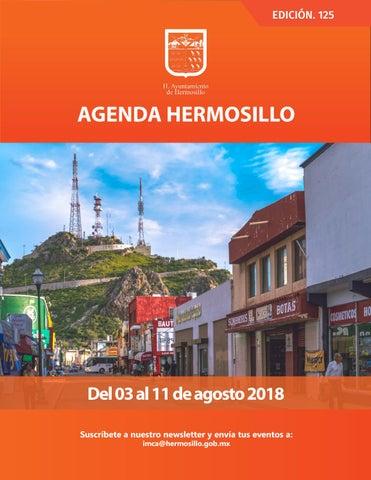 """Cover of """"Agenda Hermosillo #125 Agosto 03 2018"""""""