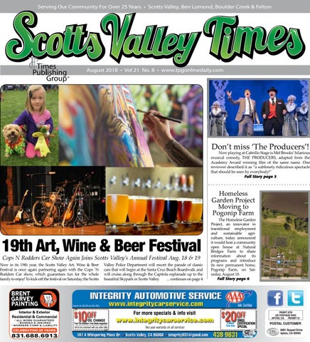 Scotts Valley Times: August 2018