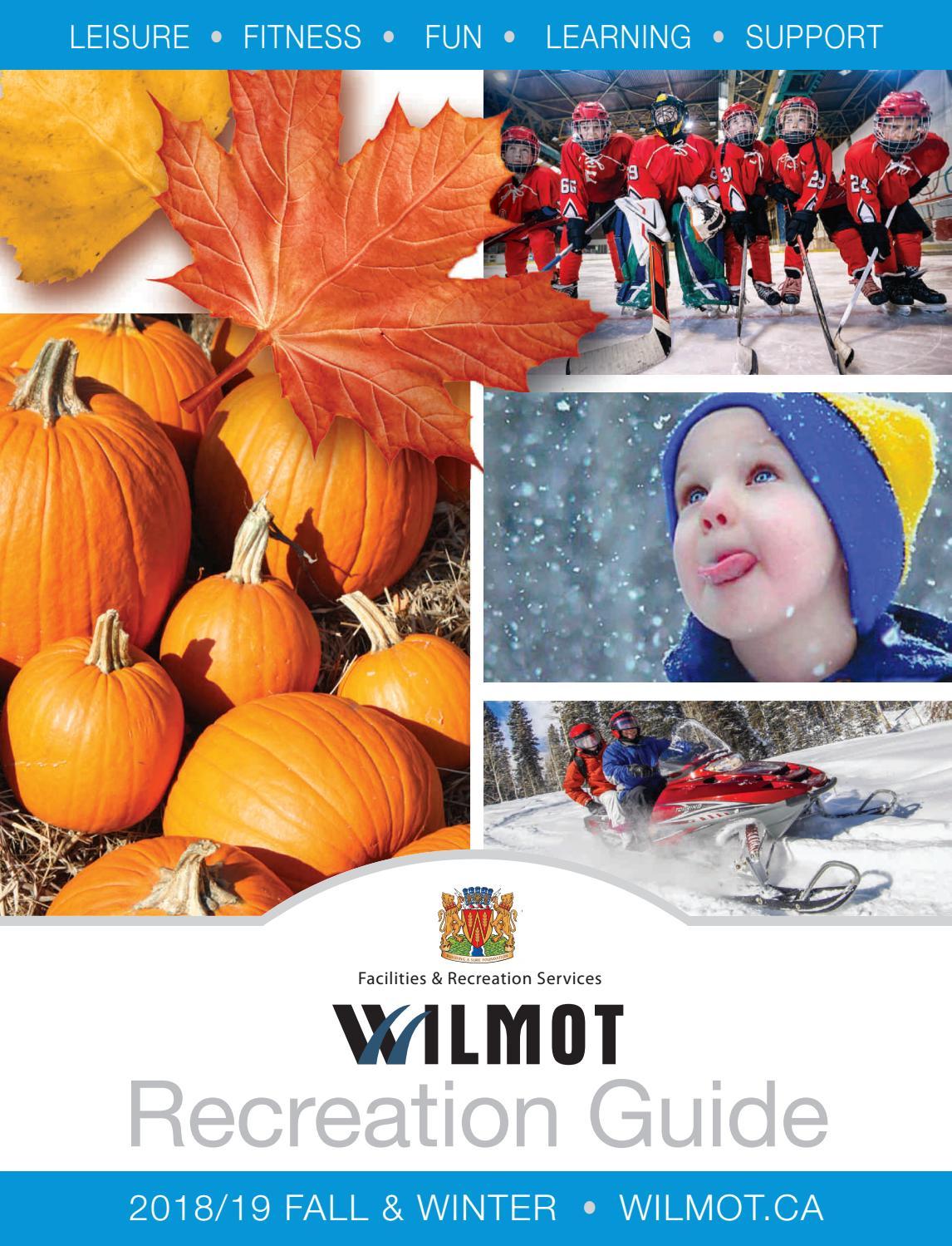 Ass Traffic Teen fall and winter 2018 wilmot recreation guidetownship of