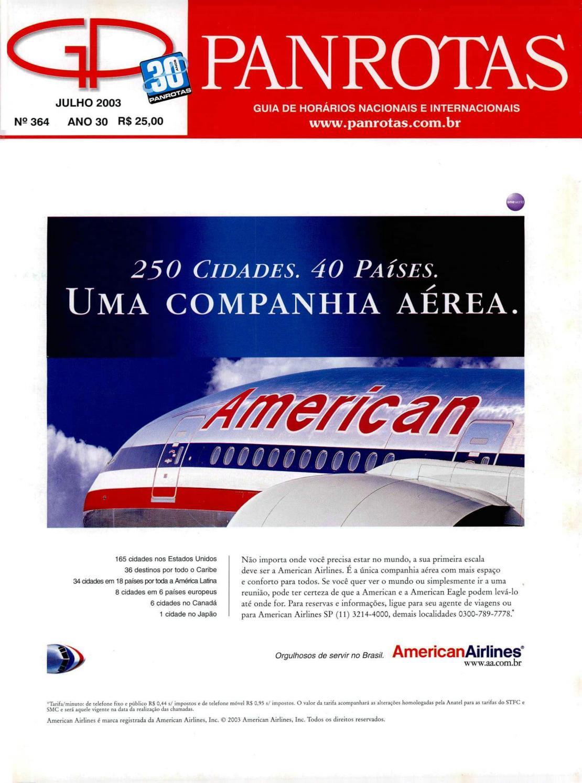 b84e5cdd1ee0a Guia Panrotas - Edição 364 - Julho 2003 by PANROTAS Editora - issuu