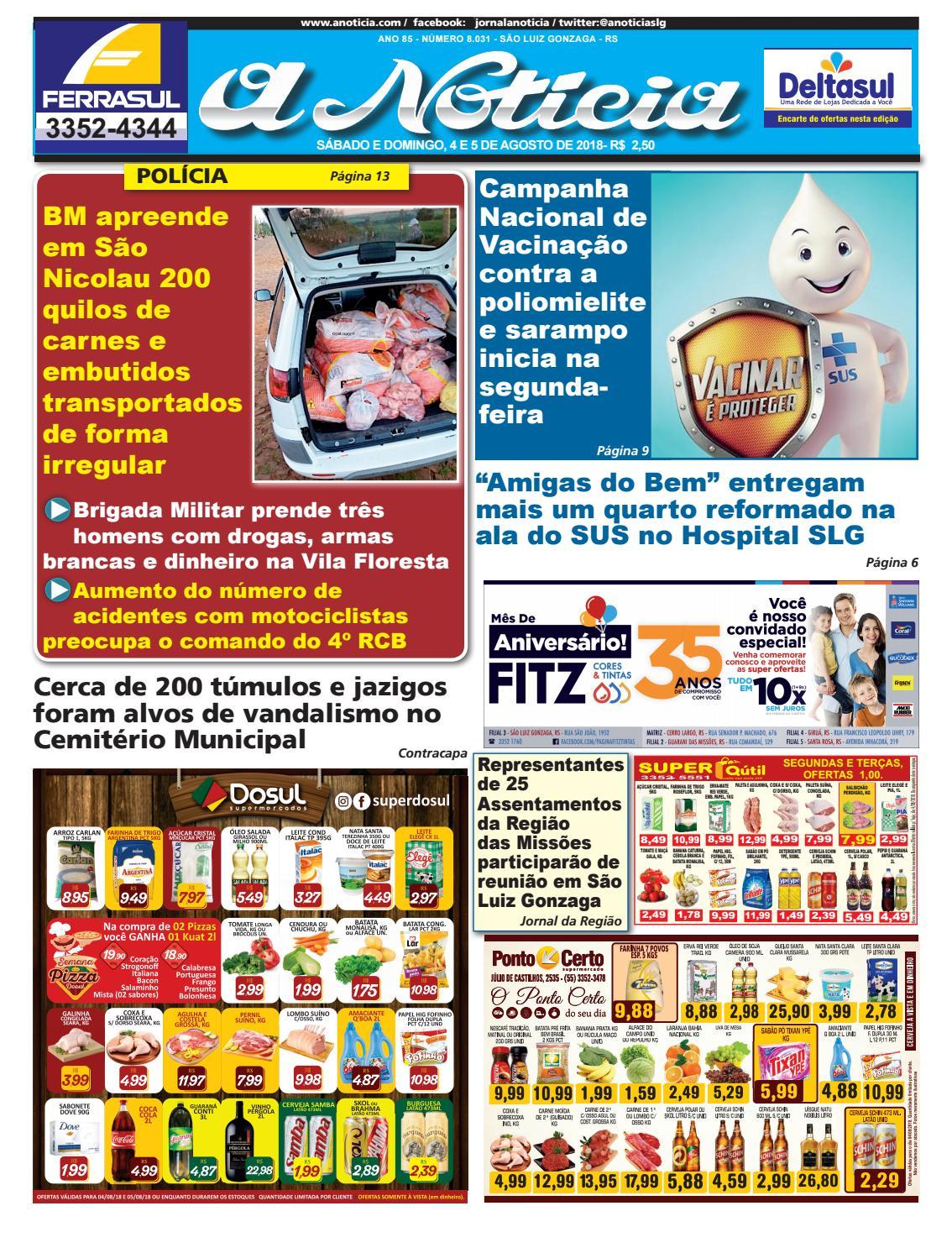 Dia 4 e 5 de agosto de 2018 by Jornal A Notícia - issuu 98df6f641763f