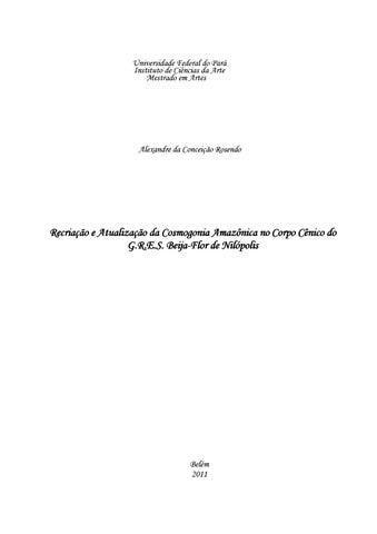 981a95ccf Recriação e Atualização da Cosmogonia Amazônica no Corpo Cênico do ...
