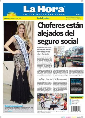 Santo Domingo 04 de agosto de 2018 by Diario La Hora Ecuador - issuu a63fbf96b18