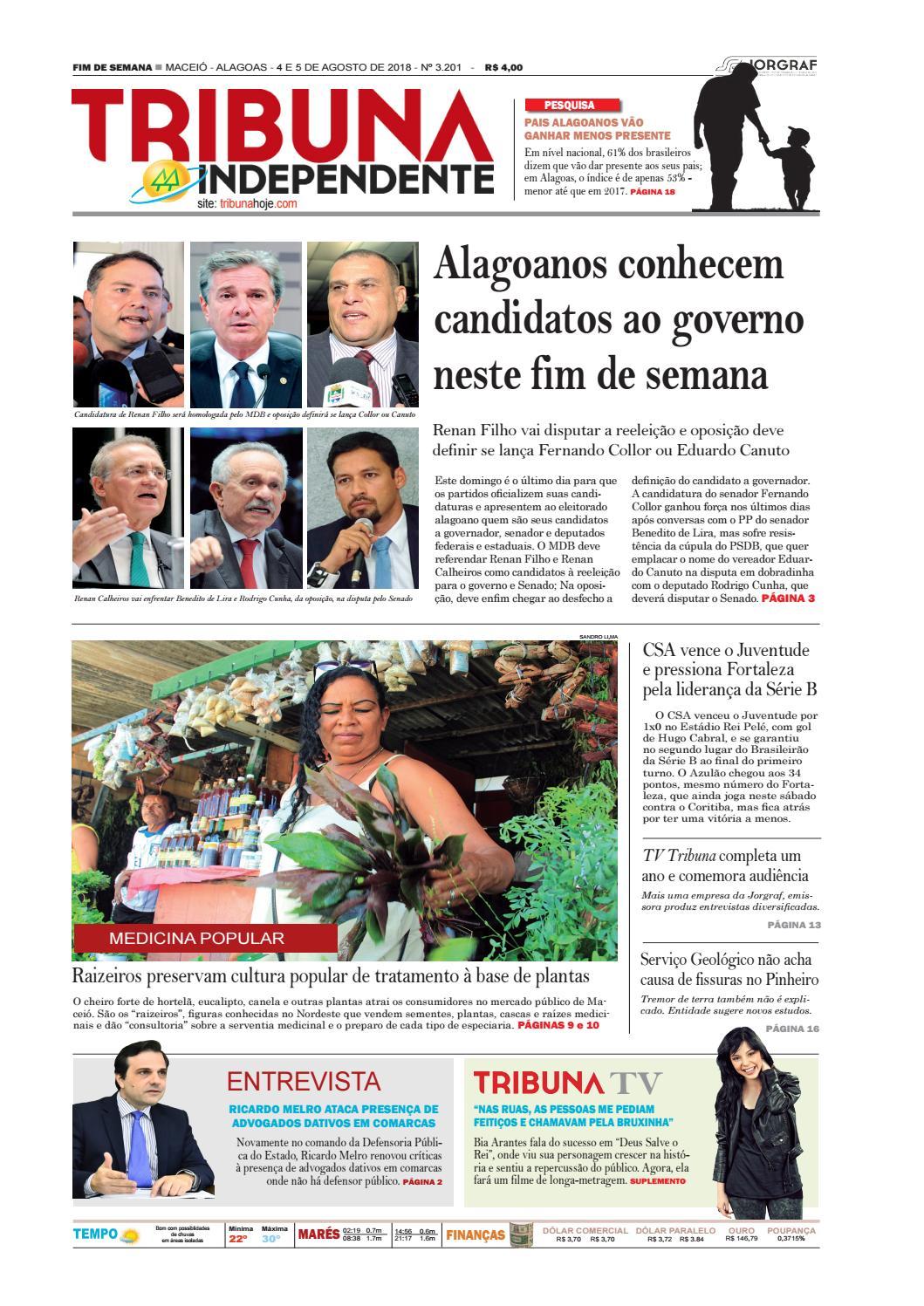 f4bc3072cb204 Edição número 3201 - 4 e 5 de agosto de 2018 by Tribuna Hoje - issuu