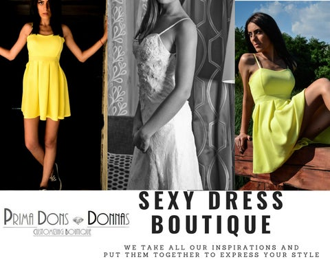 Custom Made Club Dresses Y Dress Boutique By Prima Dons