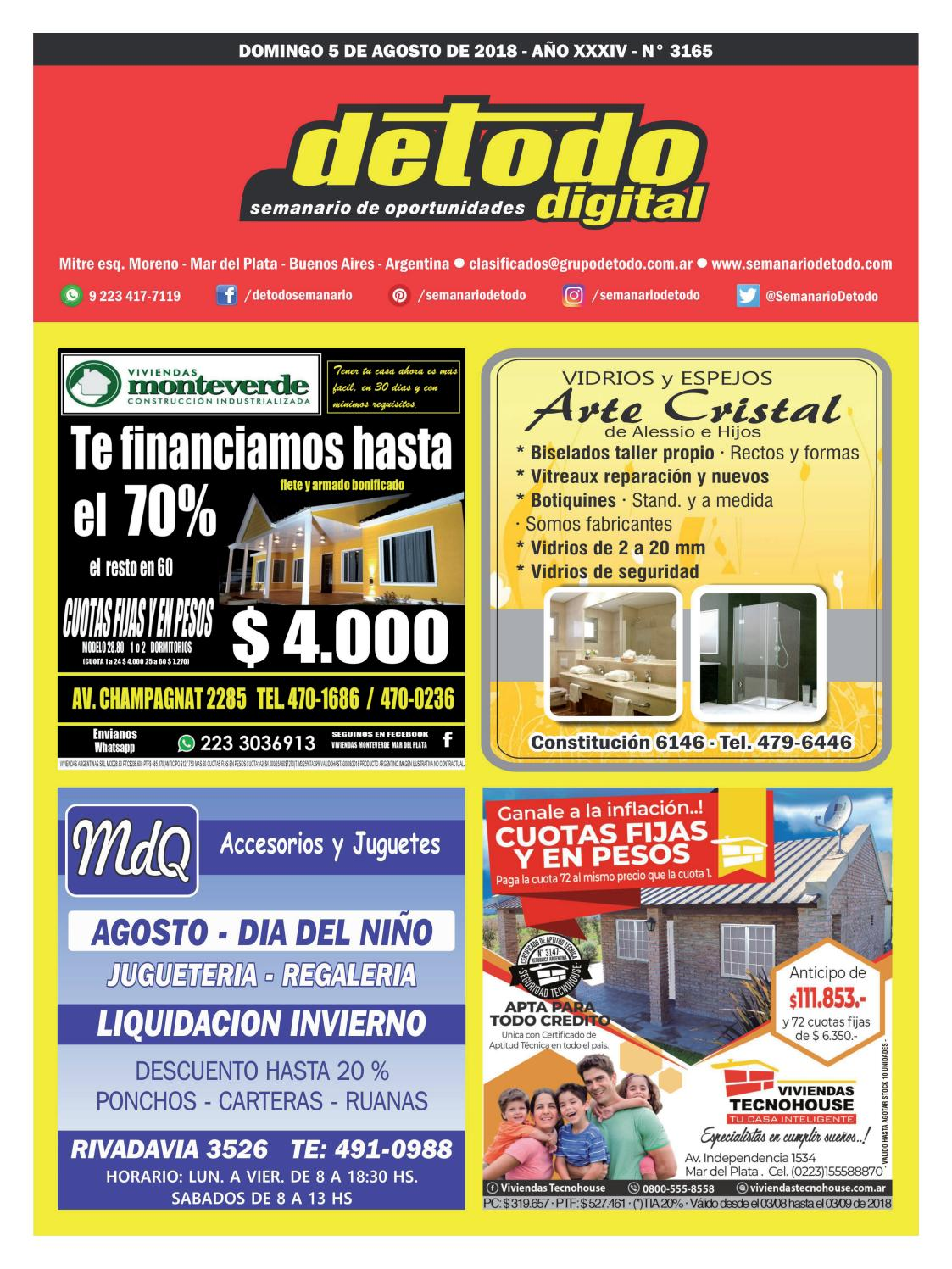 17afd95531ba Semanario Detodo - Edición N° 3165 - 05 08 2018 by Semanario Detodo - issuu