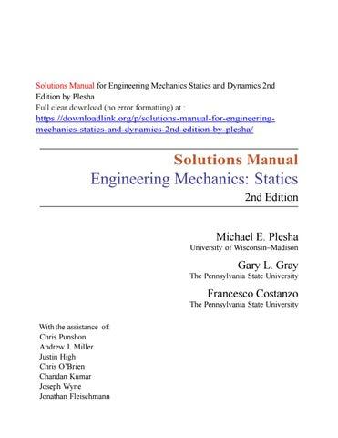 Engineering Mechanics Dynamics 13th Edition Hibbeler Solutions