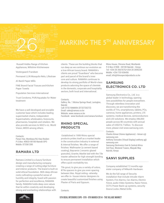 Ideal Interiors Expo 5 Catalogue 2014 by Infobox Media - issuu