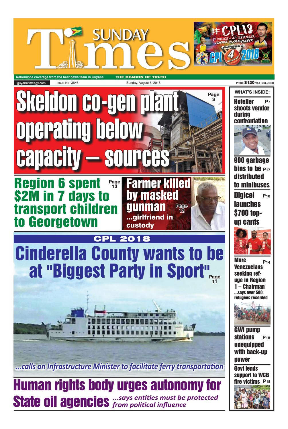 Guyana Times News Sunday August 5 2018 By Gytimes Issuu