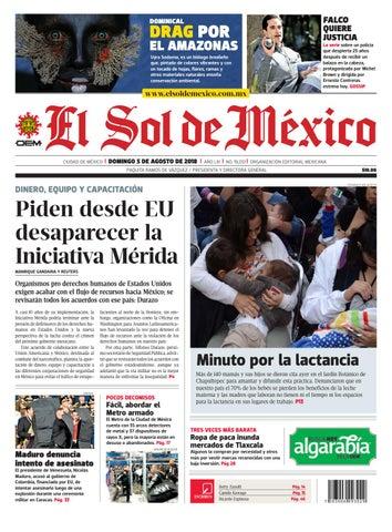 El sol de México 5 de agosto del 2018 by El Sol de México - issuu 7d540558e7c2