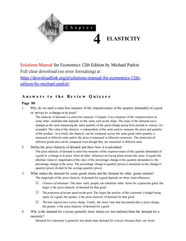 Solutions Manual For Economics 12th Edition By Michael Parkin By