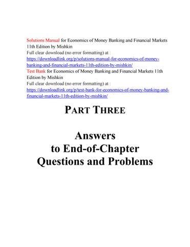Mishkin Money And Banking Pdf