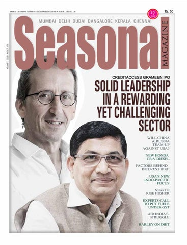 817ab9feeb7a Seasonal Magazine - August 2018 Issue - CreditAccess Grameen IPO ...