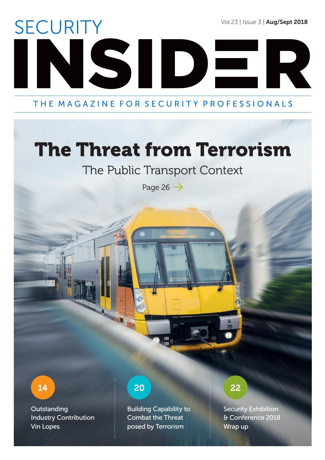 Security Insider August/ September 2018 by ASIAL - issuu