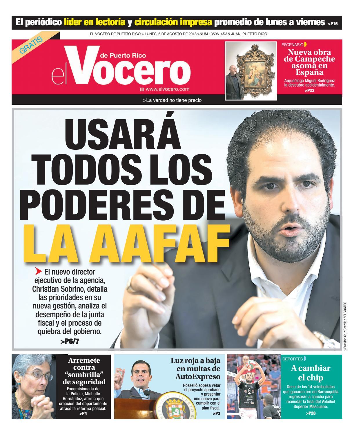 Edición del 6 de agosto de 2018 by El Vocero de Puerto Rico - issuu