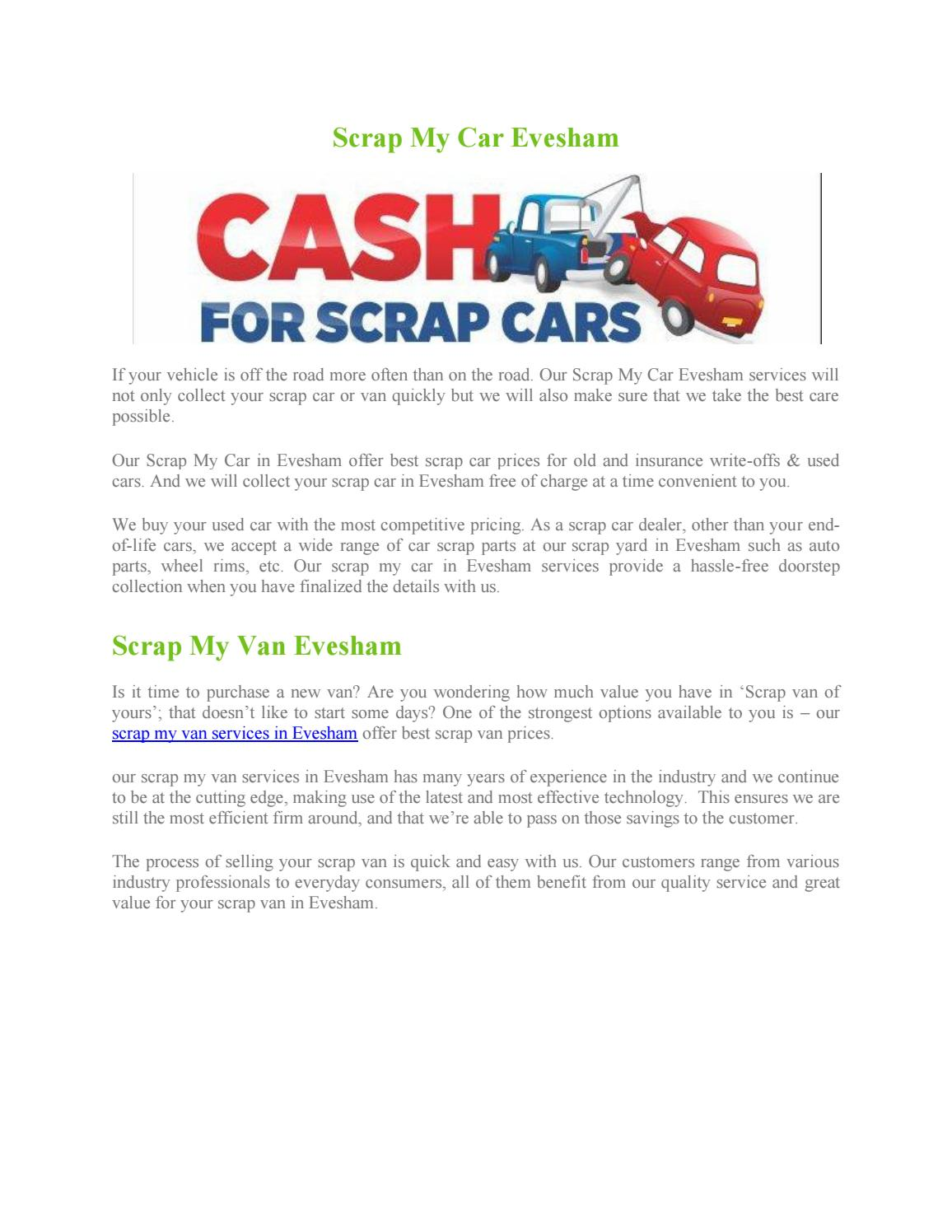 Scrap My Car Evesham By Scrap My Car 123 Issuu