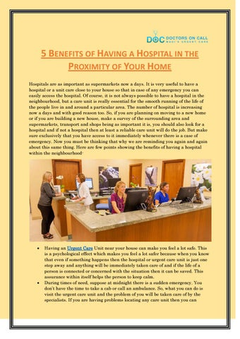 5 Benefits Of Having A Hospital In The Proximity Of Your Home Doctors On Call Maui By Garima Attri Issuu Call an ambulance but not for me is a popular meme based on a video posted by las vegas gunfights. issuu