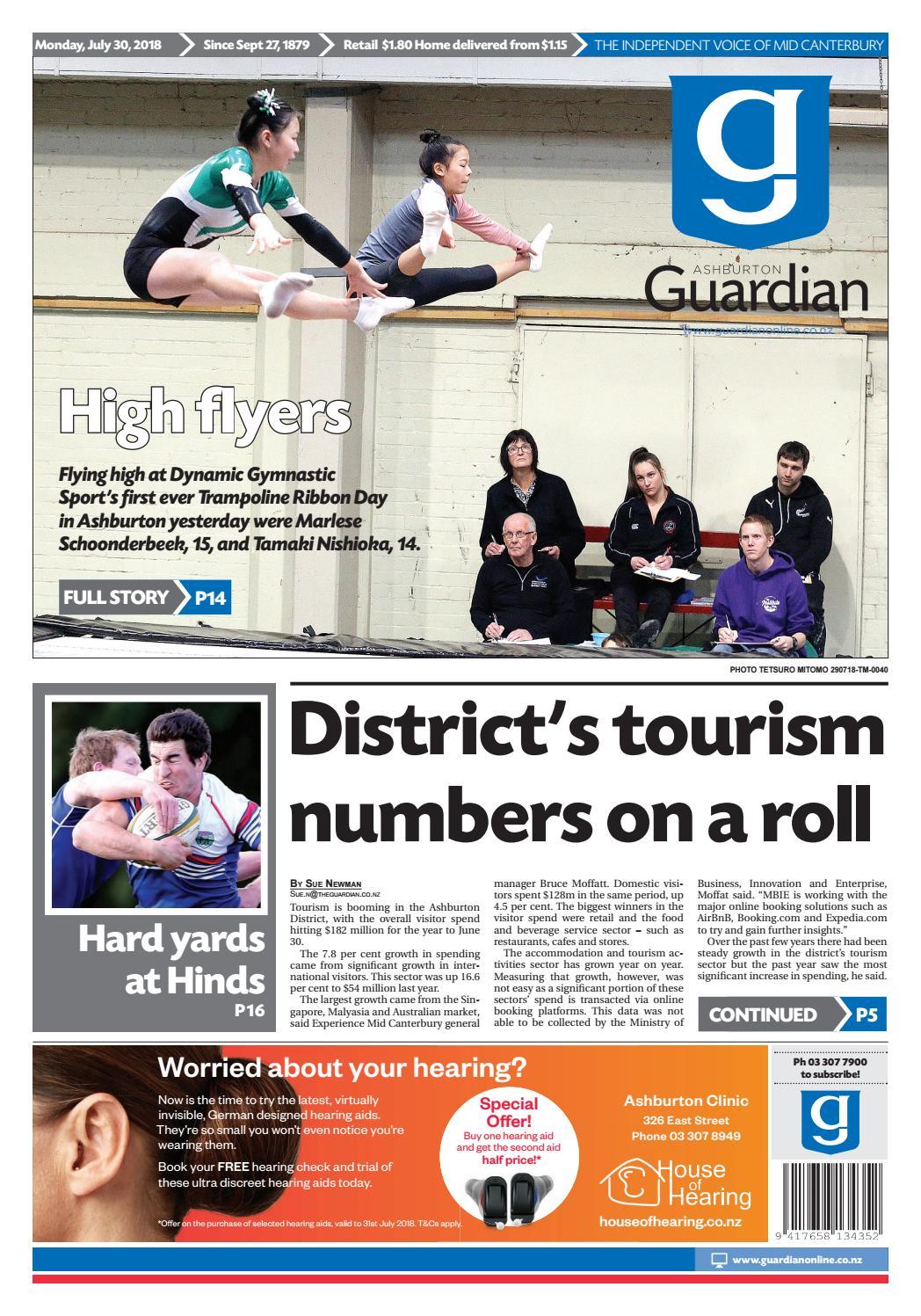 Ashburton Guardian Monday July 30 By Ashburton Guardian