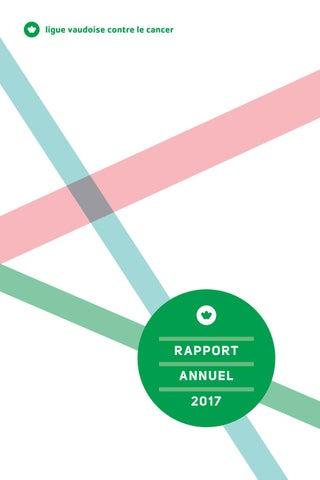 Rapport annuel de la Ligue suisse vaudoise contre le cancer