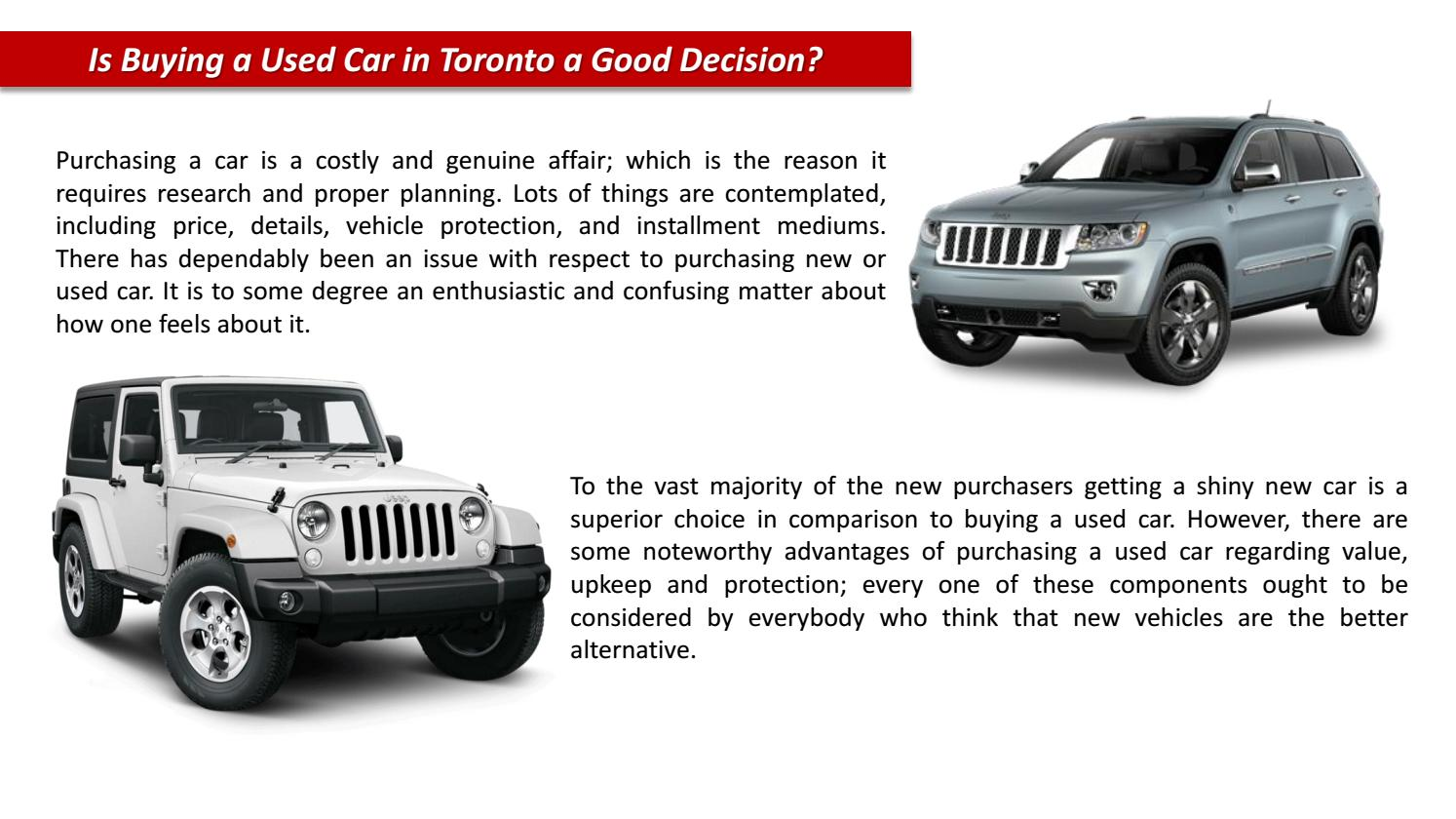 Buy Used Cars Toronto >> Used Cars Toronto By Seven View Issuu