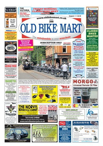 90f1318a9b0 Old Bike Mart - August 2018 by Mortons Media Group Ltd - issuu