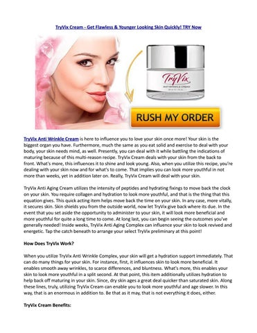 Tryvix anti wrinkle cream review