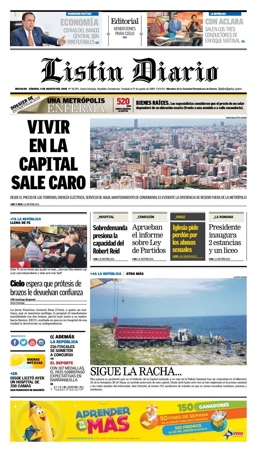76f7886fad440 LD 04-08-2018 by Listín Diario - issuu
