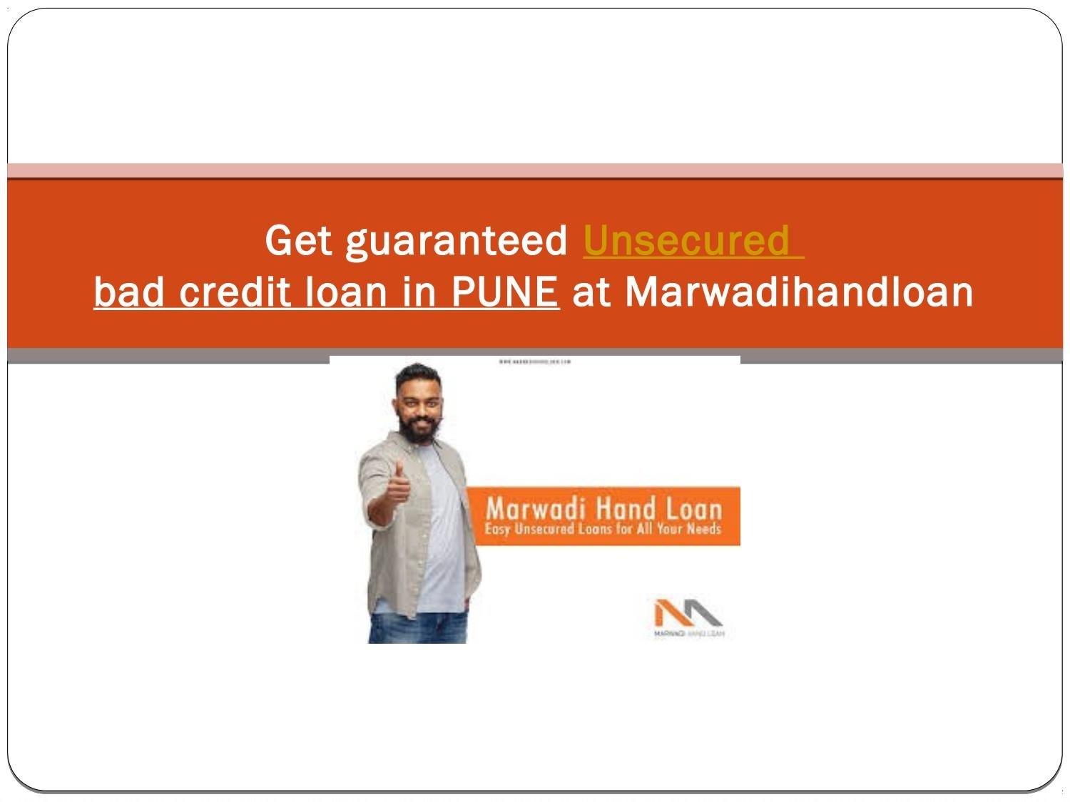 Unsecured Bad Credit Loans >> Get Guaranteed Unsecured Bad Credit Loans Pune At