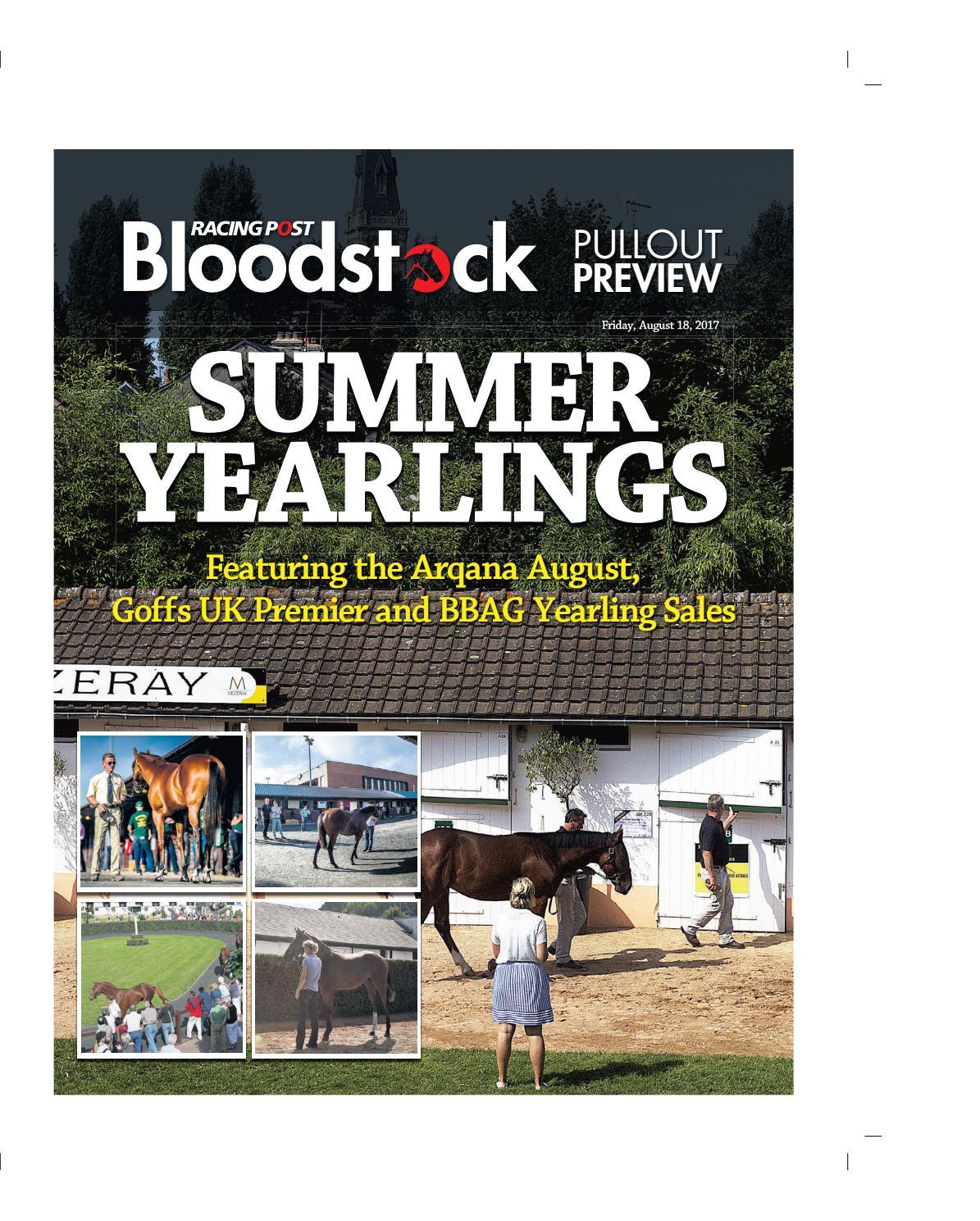 Ardes Morpheo 411.Summer Yearlings 2017 By Racing Post Bloodstock Issuu