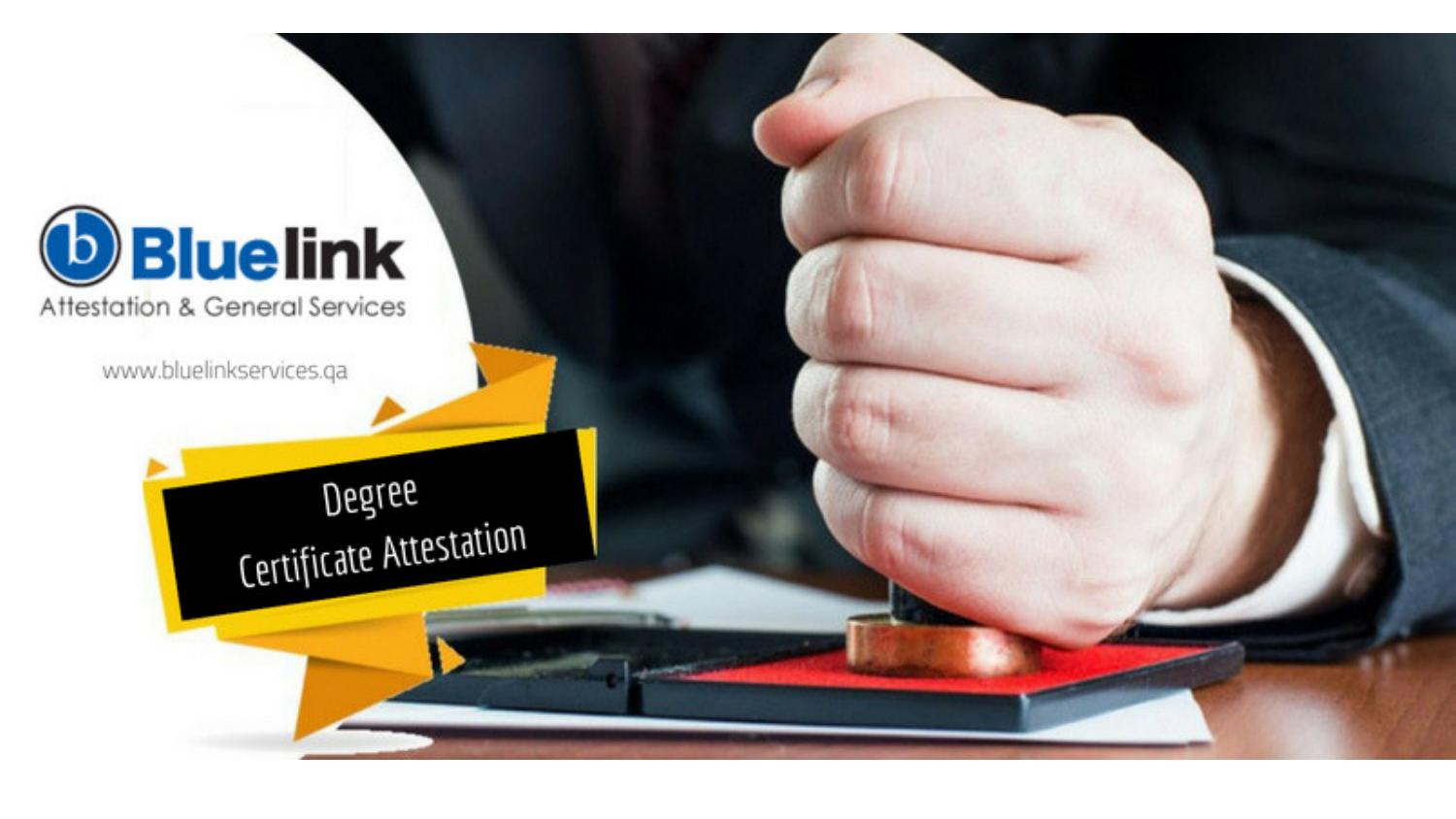 Degree Certificate Attestation for Qatar   Attestation Services by