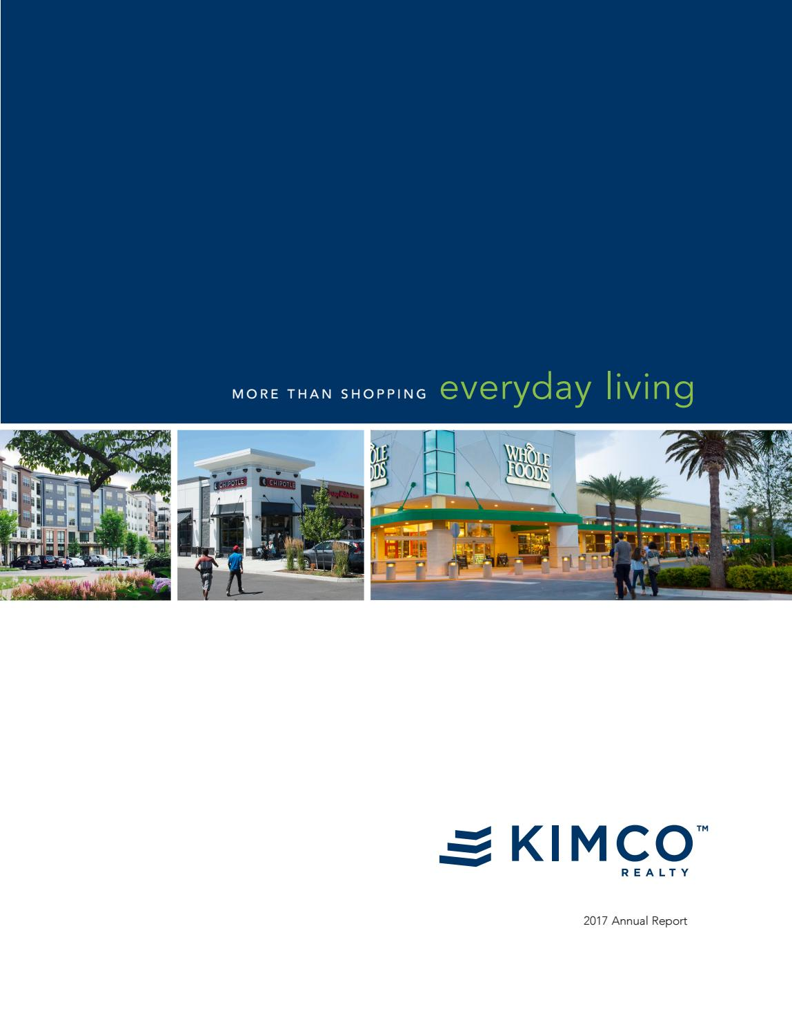Kimco Realty 2017 Annual Report by Latitude Design - issuu