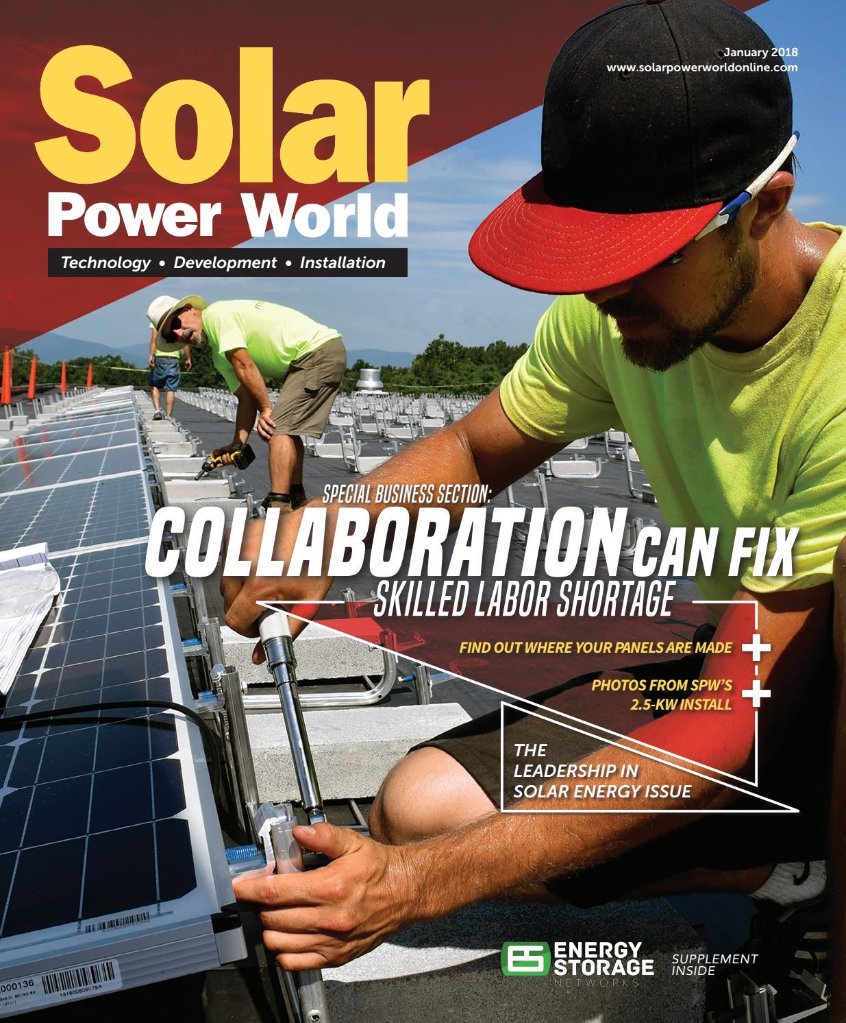 Solar Power World January 2018 By Wtwh Media Llc Issuu Crazy Telephone Wiring India