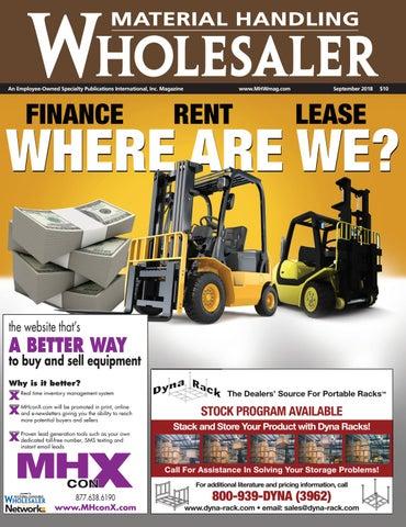 September 2018 Material Handling Wholesaler By Material Handling