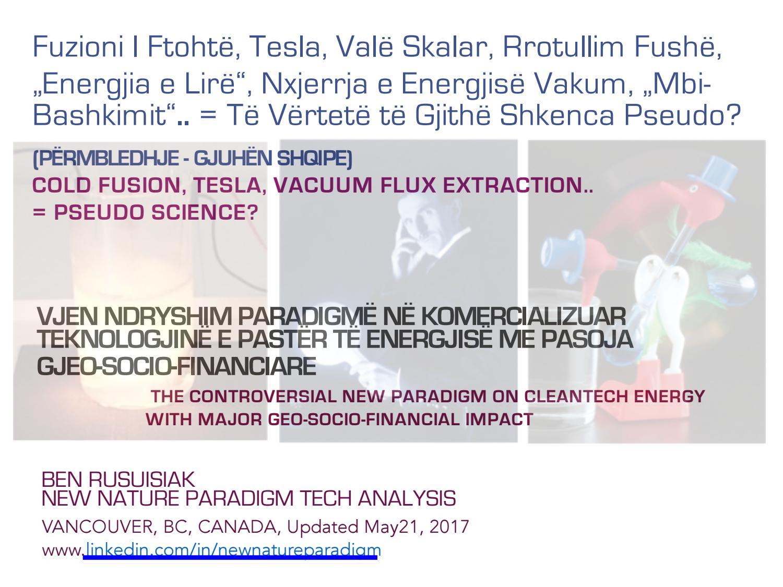 """Fuzioni i ftohtë, Tesla, Valë Skalar, Rrotullim Fushë, """"Energjia e Lirë"""" by  New Nature Paradigm - issuu"""