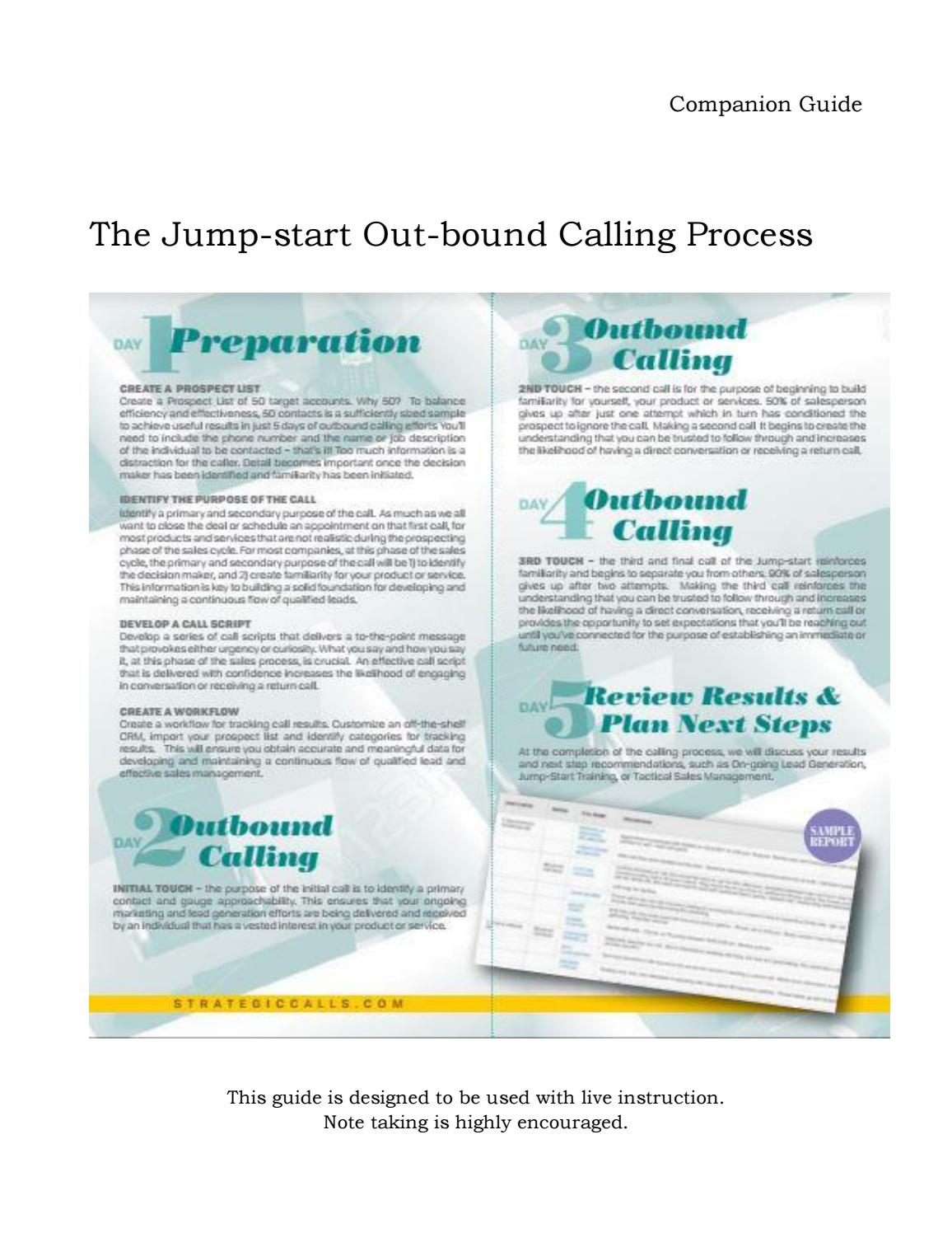Jump-start Training Guide by StrategicCalls com - issuu