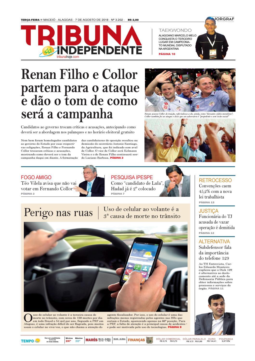 Edição número 3202 - 7 de agosto de 2018 by Tribuna Hoje - issuu 7a76f9da41