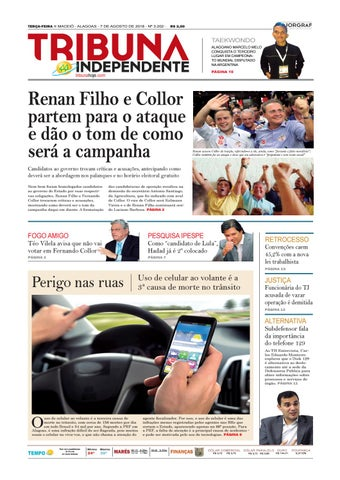 80dfbd129dc Edição número 3202 - 7 de agosto de 2018 by Tribuna Hoje - issuu